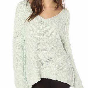 Free People Songbird Boucle Light Green Sweater